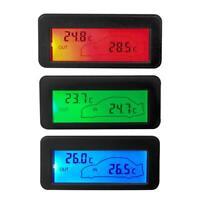 DC12V Digital Car Thermometer Mini LCD Backlight Vehicle Temperature Meter TN2F