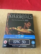 Immortals (2011) 3D & 2D Reg Fred Blu Ray NEW & SEALED UK Exclusive Steelbook