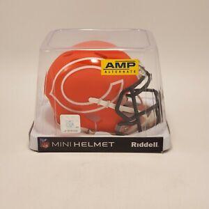 Chicago Bears NFL Amp Alternate Speed Riddell Mini Helmet NEW Sealed