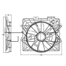 TYC 622930 Radiator & Condenser Cooling Fan Assembly New with Lifetime Warranty