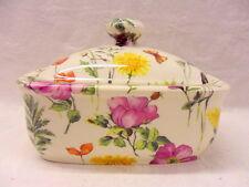 meadow flowers butterdish by Heron Cross Pottery