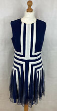 asos dress 14 blue ribbon netted evening occasion bnwt