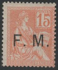"FRANCE STAMP TIMBRE FRANCHISE MILITAIRE N° 1 "" MOUCHON 15c ORANGE "" NEUF xx TB"