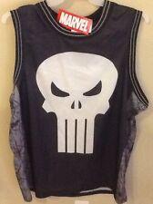 Punisher Logo Jersey Marvel Comics Tee Shirt Small Size 34-36 Castle