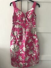 Joules Pink Floral Dress Size 8 XS