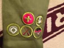 MADE IN USA BSA BOY SCOUT OF AMERICA GREEN PATCH SASH
