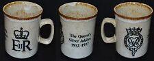 Vintage Dunoon Ceramics Queen's Silver Jubilee 1977 Mug Scotland Tea Stoneware