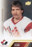 13-14 UD TEAM CANADA EXCLUSIVES GOLD ERROR CARD NOT NUMBERED WENDEL CLARK NO:194