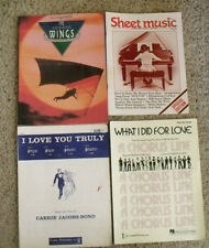 Lot of 4 items - 2 Sheet Music Songbooks and 2 Single Song Music Sheets