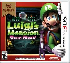 NINTENDO 3DS GAME LUIGI'S MANSION DARK MOON NINTENDO SELECTS BRAND NEW