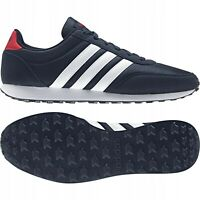 Adidas V Racer 2.0 Men`s Boy`s Running Sport Trainers Black Blue Red UK Stock