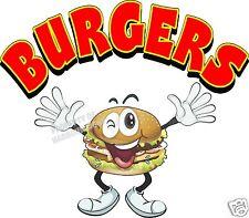 "Burgers Decal 14"" hamburgers Restaurant Concession Food Truck Vinyl Menu Sticker"