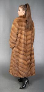 9652 SUPERIOR REAL MINK COAT LUXURY FUR JACKET VERY LONG BEAUTIFUL LOOK SIZE XL