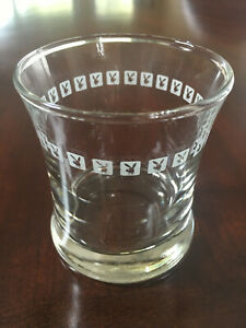 Vintage Playboy Club Tumbler Rock Glass, Hard to Find 6ozs