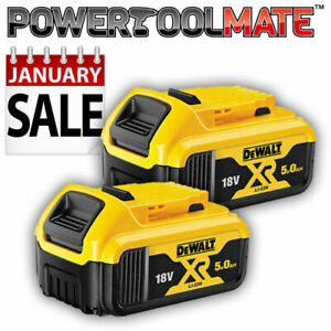 Genuine Dewalt DCB184 18v XR 5ah slide battery *TWIN PACK*