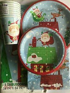 Christmas Santa Design Tableware Range Party XMAS Celebration Dinner Party