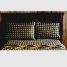 Whitetail Birch Plaid Queen Sheet Set 4pc Whitetail Doe Rustic Cabin Dark Brown