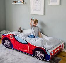 Autobett 160x80 / 140x70 cm Spielbett Kinderbett mit Lattenrost Rennfahrer-Optik