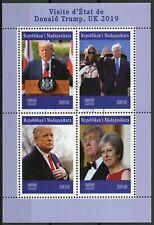 Madagascar 2019 CTO Donald Trump UK Visit Theresa May 4v M/S People Stamps