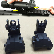 2Pcs Black Electric Water Gun Front & Rear Set Flip Up Backup Sights BUS