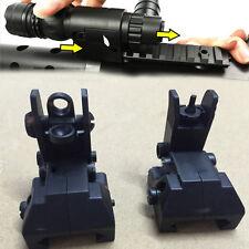 2Pcs Black Electric Water Gun Front & Rear Set Flip Up Backup Sights BUS