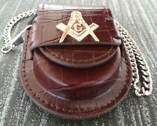 FREEMASON Pocket Watch Pouch case with belt loop Holder Cover Masonic Protector