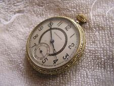 Beautiful Antique Stratford Pocket Watch Vintage Supreme I-W-C Case 6 Jewels
