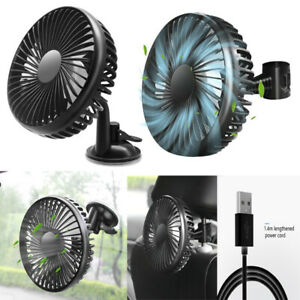 12/24V Fan Air Cooler 3-Level Speed USB Port Car Home Clip-on / Suction Cup UK