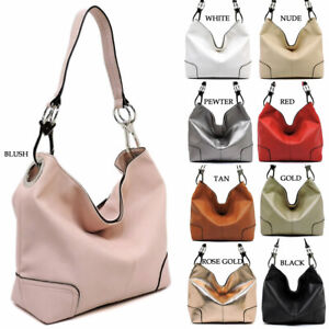 Fashion Hooked Single Strap Classic Hobo Bucket Purse Womens Satchel Handbag