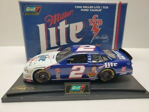 1/18 #2 1998 RUSTY WALLACE MILLER LIGHT TCB FORD TAURUS REVELL LIMITED DIECAST