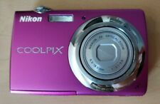 Nikon COOLPIX S220 10.0MP Digital Camera w/ Battery & 4GB Card -- Pink
