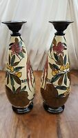 PAIR OF THOMAS FORESTER & SONS, RONDA WARE, ART DECO VASES BY ROGER DEAN @1920