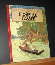 """TINTIN. L'OREILLE CASSEE."""" FEUILLAGE BLEU """" B5 1951. Titre en noir. B.E/T.B.E."""