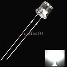 5MM 2Pin Flat Red Yellow Blue Green White LED Wide Angle Flat Head Light Lamp
