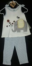 NWT MUD PIE BABY GIRLS ELEPHANT TUNIC & LEGGINGS OUTFIT SZ 0-6 MO