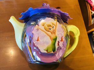 New Sealed Disney store exclusive Tinker Bell Playset Plates Cups Bowls Tea Pot