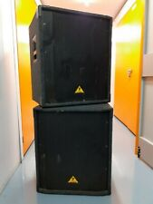 More details for 2 x behringer b1800x pro eurolive professional 1800w 18 inch pa subwoofers
