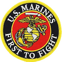 EagleEmblems PM5394 Patch-USMC,First to Fight (3.25'')
