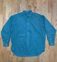 Ralph Lauren Blaire Green Mens Button Down Shirt Size XL EUC