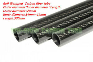 20mm Tubing  3K Carbon Fiber Tube OD20mm x ID14mm 16mm 17mm 18mm 19mm x500mm-UK