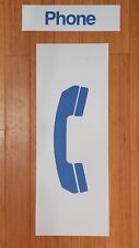 """SET VTG PAY PHONE TELEPHONE BOOTH DECALS STICKERS SIGN LRG 29"""" X 11"""" HD VINYL"""