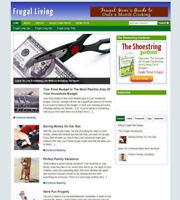 FRUGAL LIVING BLOG / WEBSITE FOR SALE - UK AFFILIATE STORE & FREE HOSTING OFFER