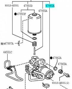 TOYOTA 47960-60050 Brake Booster Pump ASSY Genuine LAND CRUISER PRADO LEXUS