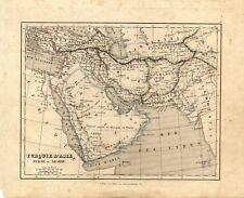 Carta geografica antica TURCHIA ARABIA PERSIA Binet 1835 Old Antique map