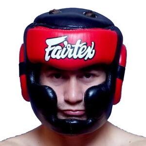 FAIRTEX HEADGUARD HG13 DIAGONAL VISION FULL HEAD COVERAGE MUAY THAI KICK BOXING