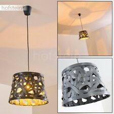 Lampe à suspension Plafonnier Retro Lampe pendante grise Lustre Luminaire Métal
