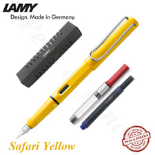 LAMY Safari Yellow Fountain Pen Free T10 + Z28 (Choose Your Nib Size)
