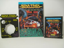 Star Trek (Atari 2600) Cart, Manual w/RARE  COMBAT CONTROL PANEL ! Working MINT