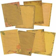 Stationery Paper Letter 8 Sheets Writing Vintage Retro Style Fashions Design New