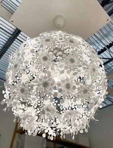"Ikea GRIMSAS Ceiling Pendant Lamp 22"" (55 cm) Decorative Floral White - NEW"